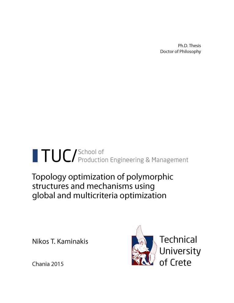 Multicriterion optimization ph d thesis henderson dissertation 2006 knoxville